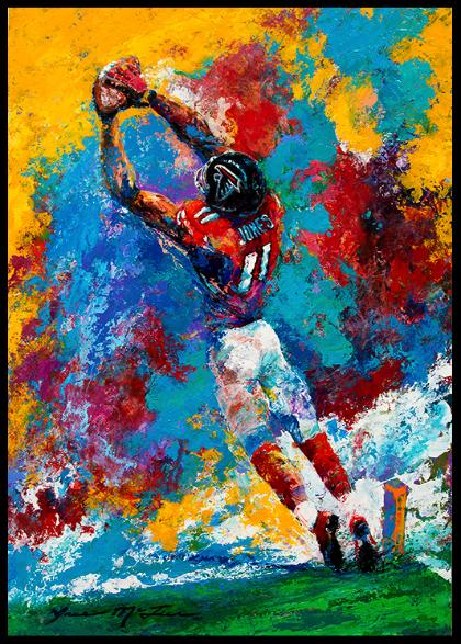 Julio Jones Atlanta Falcons Art Football Toe Drag